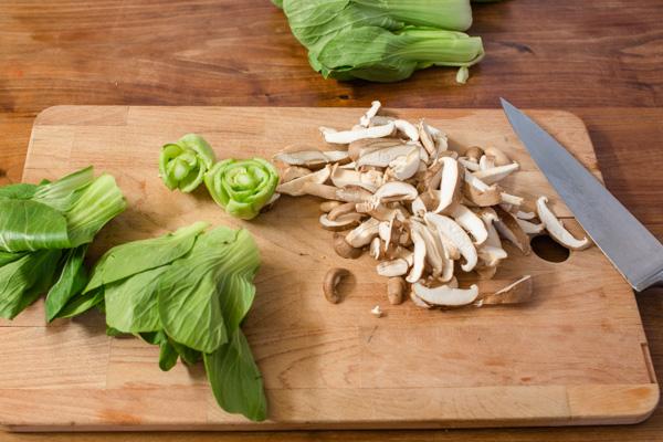 Baby Bok Choy and Shiitake Mushrooms Recipe
