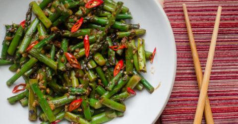 Spicy Asparagus in Black Bean Sauce