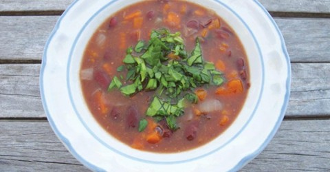 Kidney Bean and Yam Soup
