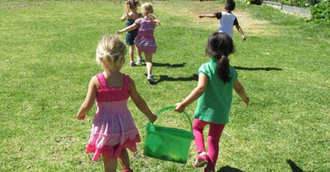 Kids playing at the MUSE school