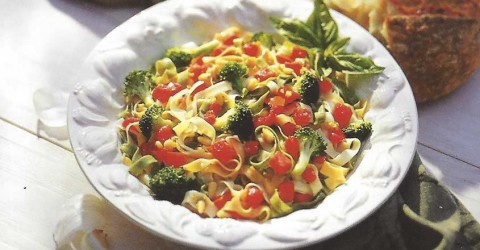 Fettuccine With Broccoli and Pine Nuts