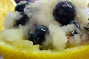 Tart Lemon Pineapple Ice with Fresh Blueberries Recipe
