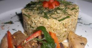 Quinoa with Oven Sautéed Mushrooms