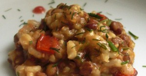 Sprouted Lentils and Whole Rice Stew