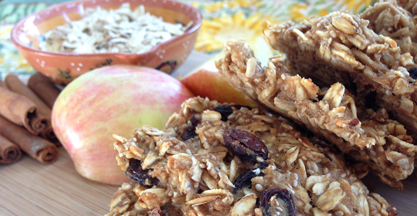 apple oatmeal cookies - plant-based diet recipes