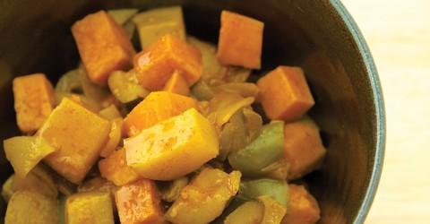 Curry de frutas y vegetales