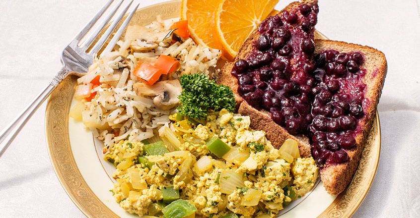 Green Pepper Tofu Scramble