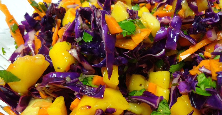 Red Cabbage and Mango Slaw Recipe