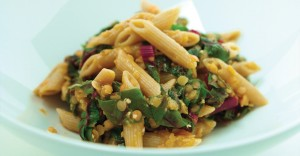 Penne with Red Lentils and Chard Recipe