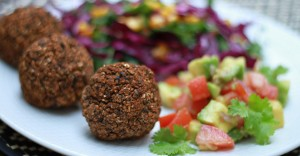 Black Bean Falafel & Avocado Salsa Recipe