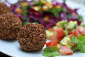 Black Bean Falafel & Avocado Salsa Recipe
