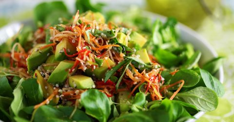 Mâche Salad With Apple, Avocado & Jalapeño