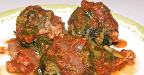 Swiss Chard and Rice Balls
