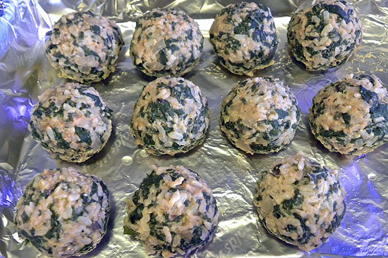 Swiss Chard and Rice Balls