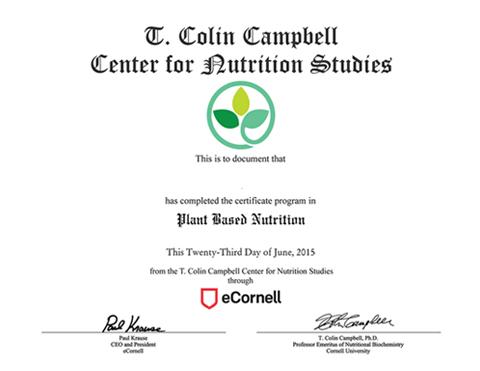 Nutrition certificate online / Tissue rolls