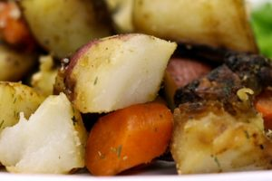 Roasted Carrots, Potatoes and Onions Recipe