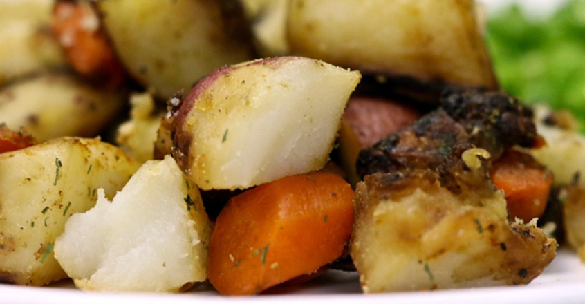 Roasted Carrots, Potatoes and Onions