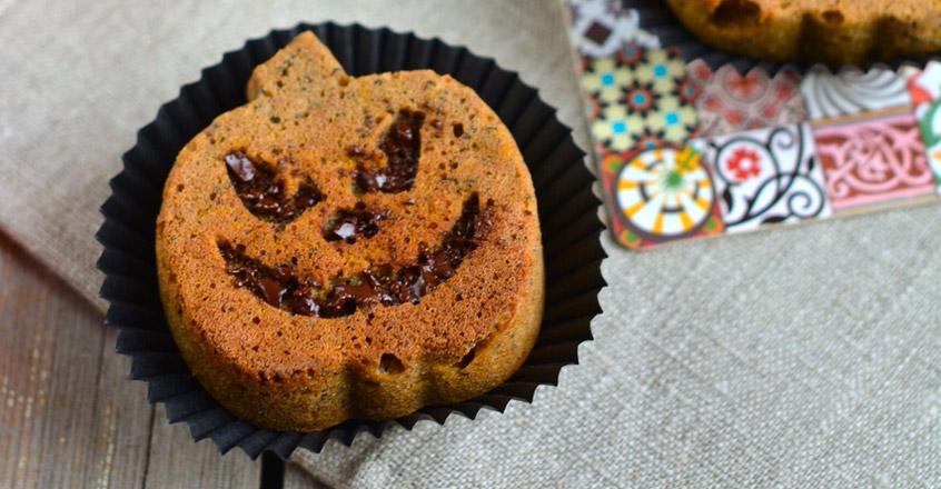 Muffins de calabaza de invierno (butternut) para Halloween