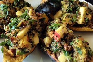 Stuffed Acorn Squash With Quinoa, Hazelnuts and Apples Recipe