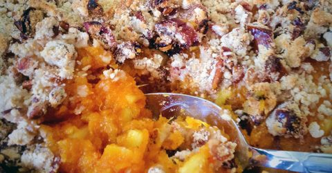 Sweet Potato Pineapple Casserole With Pecan Streusel