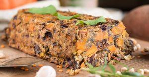 Lentil Nut Loaf With Sweet Potato