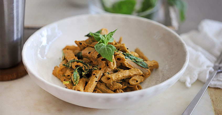 Plant-Based Penne Rosa recipe