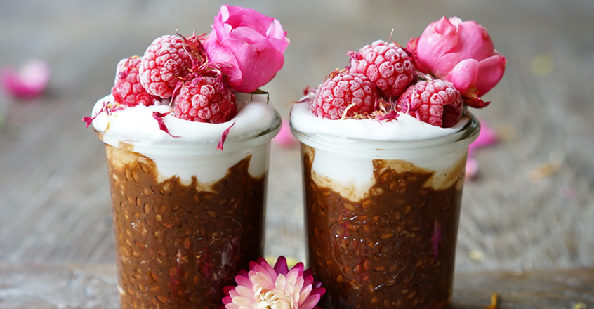 Chocolate Flax Seed Pudding