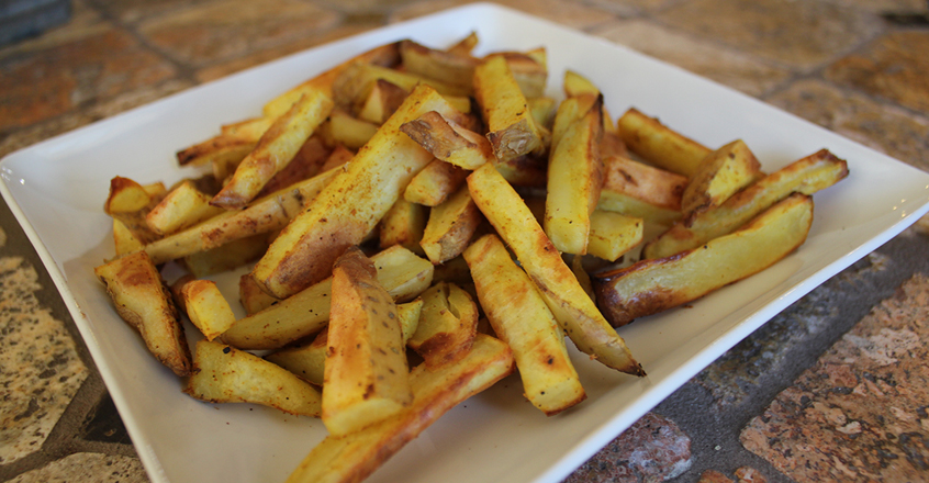 Curry Baked Fries