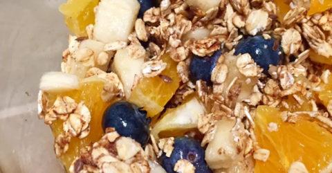 3 Ingredient Late-Night Granola