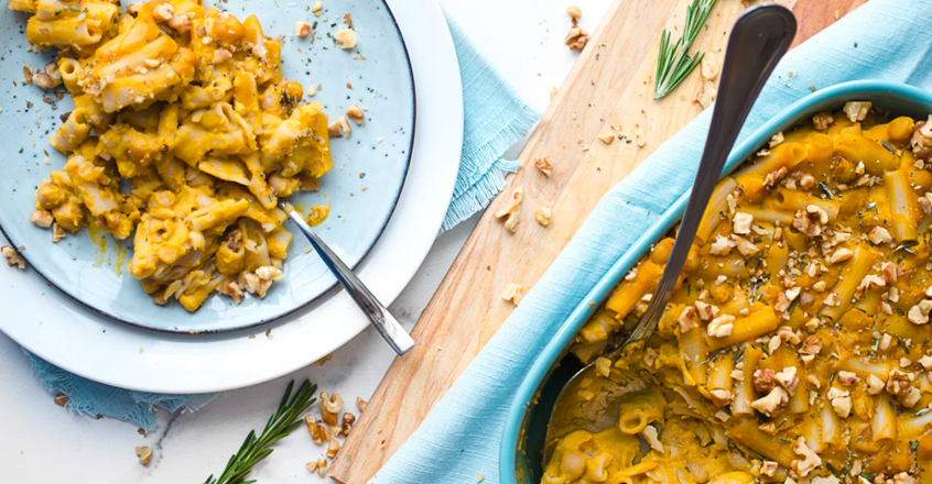 Rosemary and Garlic Baked Butternut Squash Pasta