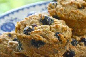 Vegan Blueberry Loaded Muffins