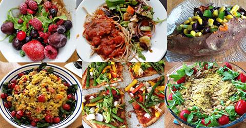 Sencillas preparaciones basadas en plantas para el desayuno, el almuerzo y la comida