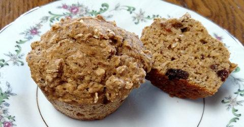 Muffins de avena y manzana