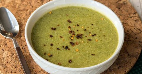 """""""Crema"""" de sopa de brócoli"""