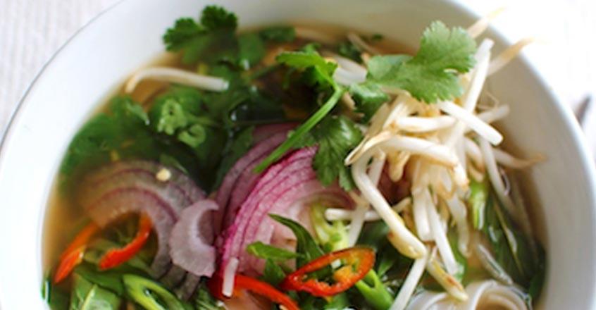 Pho vegano - Sopa vietnamita de fideos