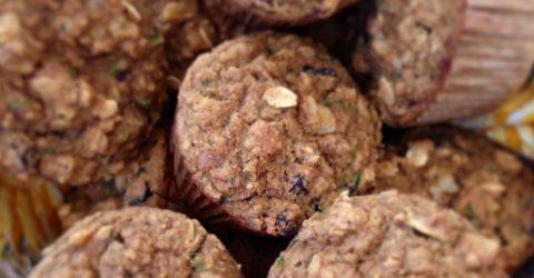Muffins de calabacín y avena