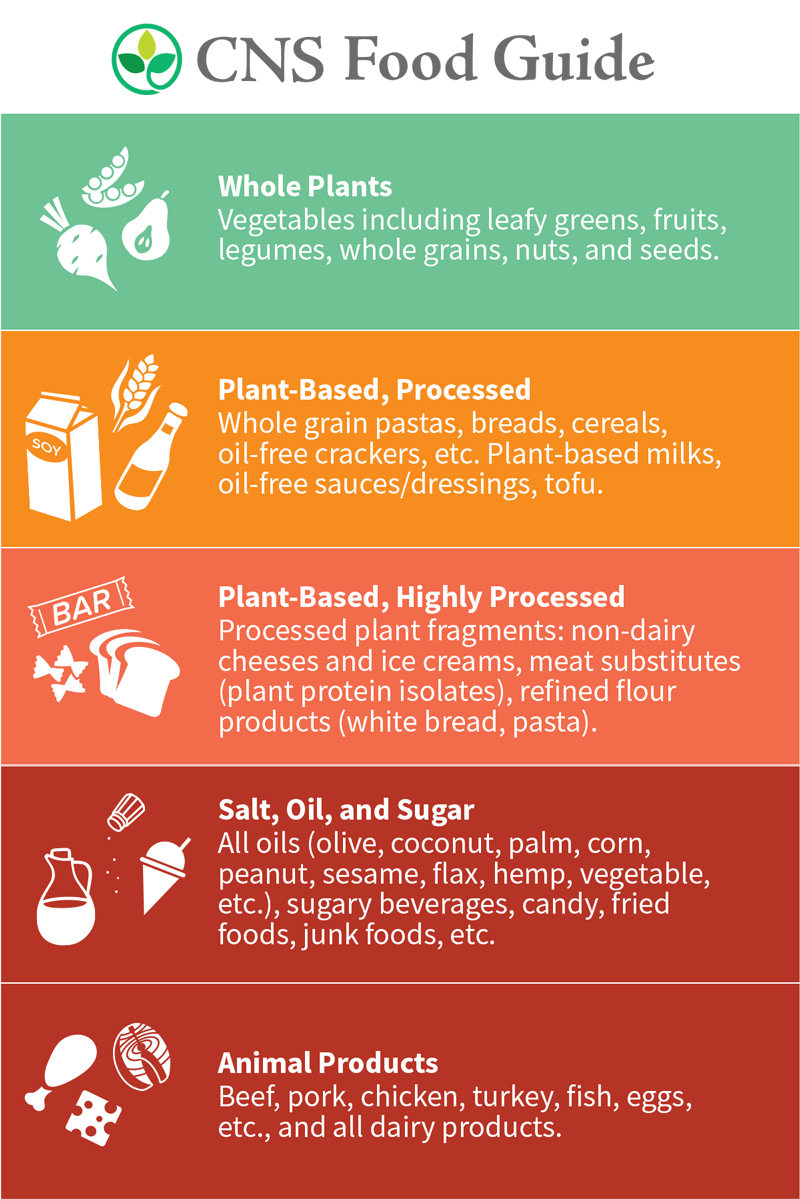 A food guide that displays which foods you should eat and avoid