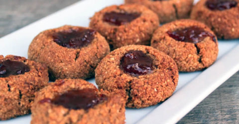 Jammin' Almond Thumbprint Cookies