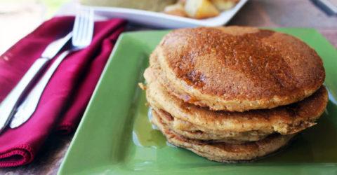 """Millet-Flax Homemade """"Buttermilk"""" Pancakes"""