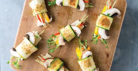 Rainbow Zucchini Rolls