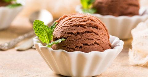 Helado vegano de chocolate