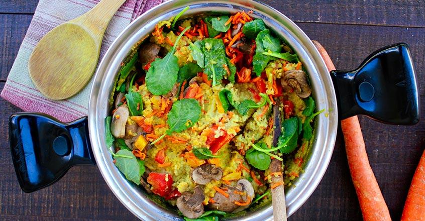 Savory Oats with Veggies