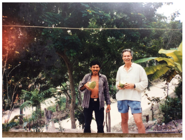 Living with a family in the rainforests near the village of San Andres Guatemala in 1994 and 1995