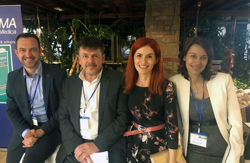 David Hickman, Professor Emil Martinka, Dr. Janka Lejavova, and Zuzana Plevova