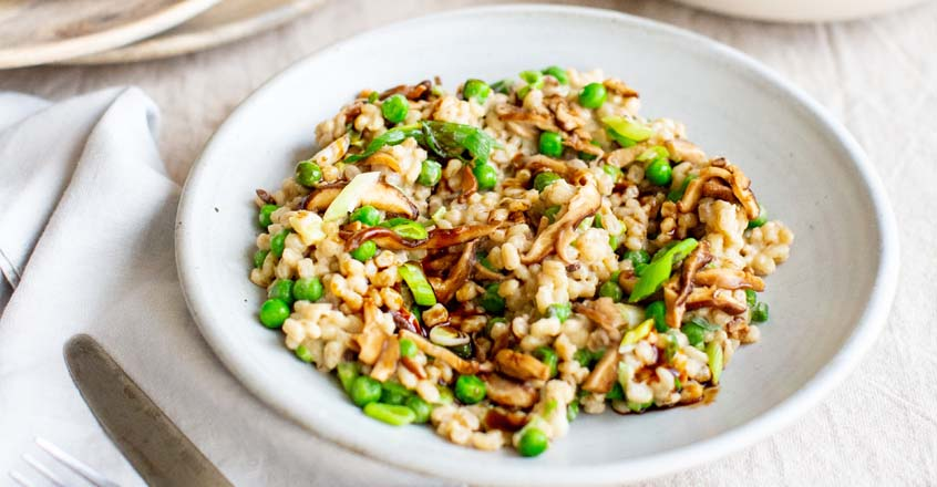 Barley Risotto With Shiitake and Sweet White Miso