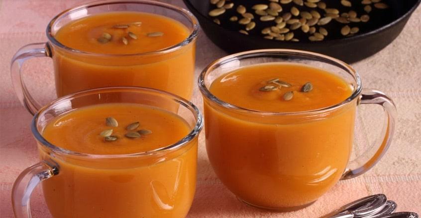 Sopa de calabaza de invierno (o butternut) con manzana
