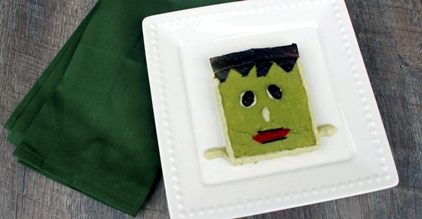 Frankenstein Fun Avocado Toast