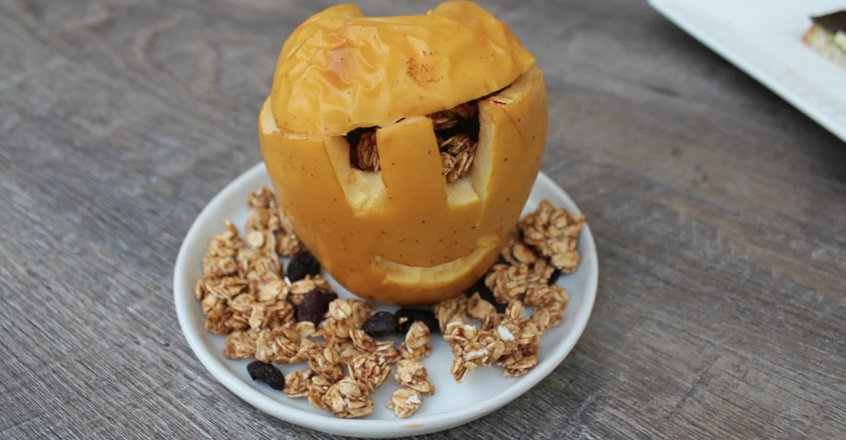 """Lámparas de """"Halloween"""" de manzana"""