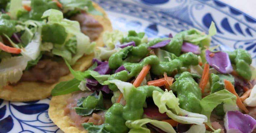 Pinto Bean Tostadas With Avocado Salsa