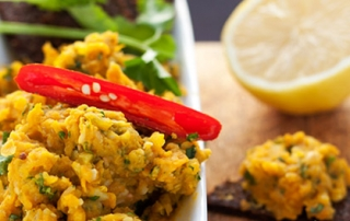 Spiced Carrot with White Bean Dip